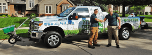 This is an image of My Fertilizing Company Best lawn care Livonia no weeds