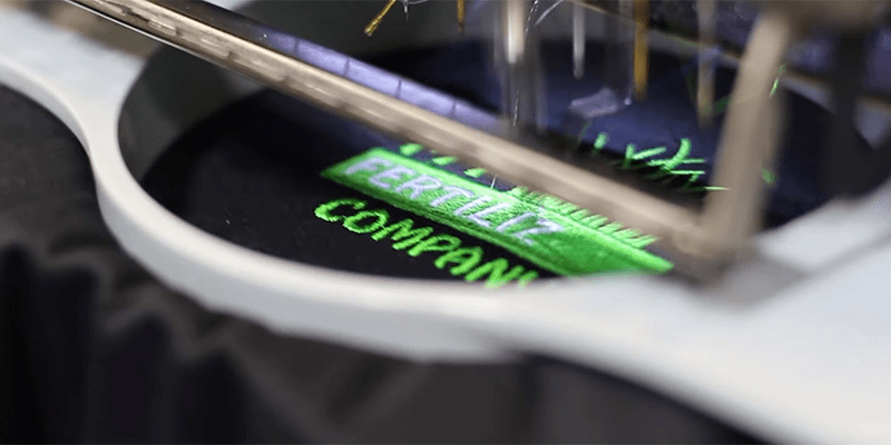 This Is An Image Of My Fertilizing Companys Logo Getting Embroidered