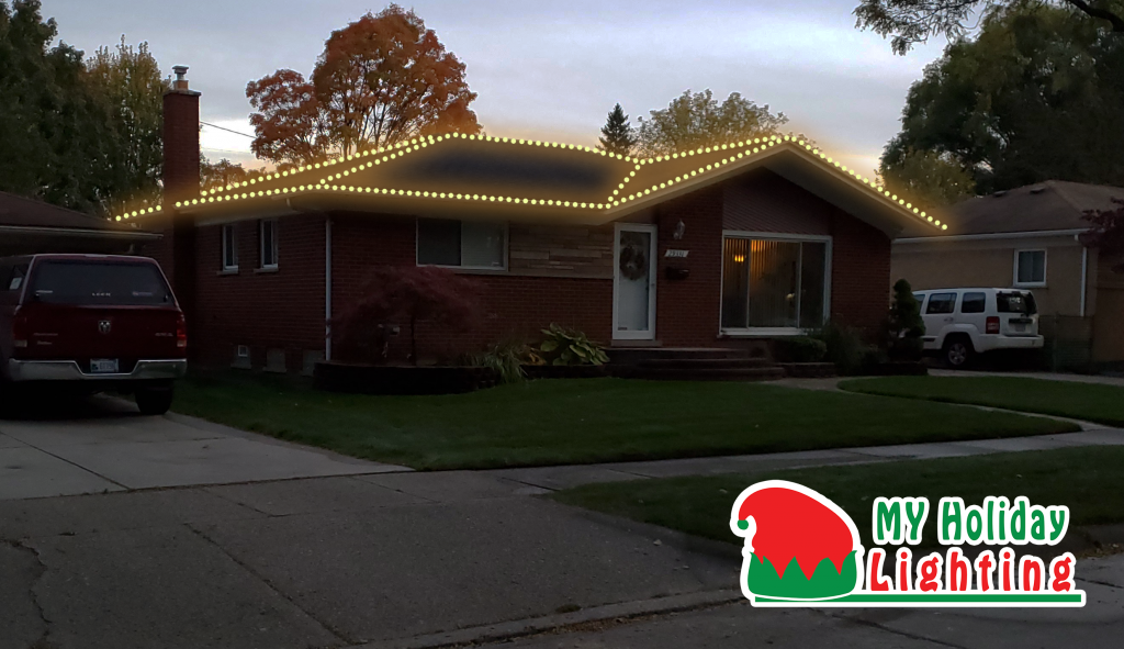 This is a holiday lighting design.