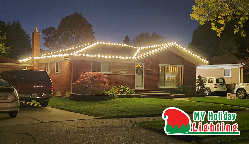 This is an image of a My Holiday Lighting Installation