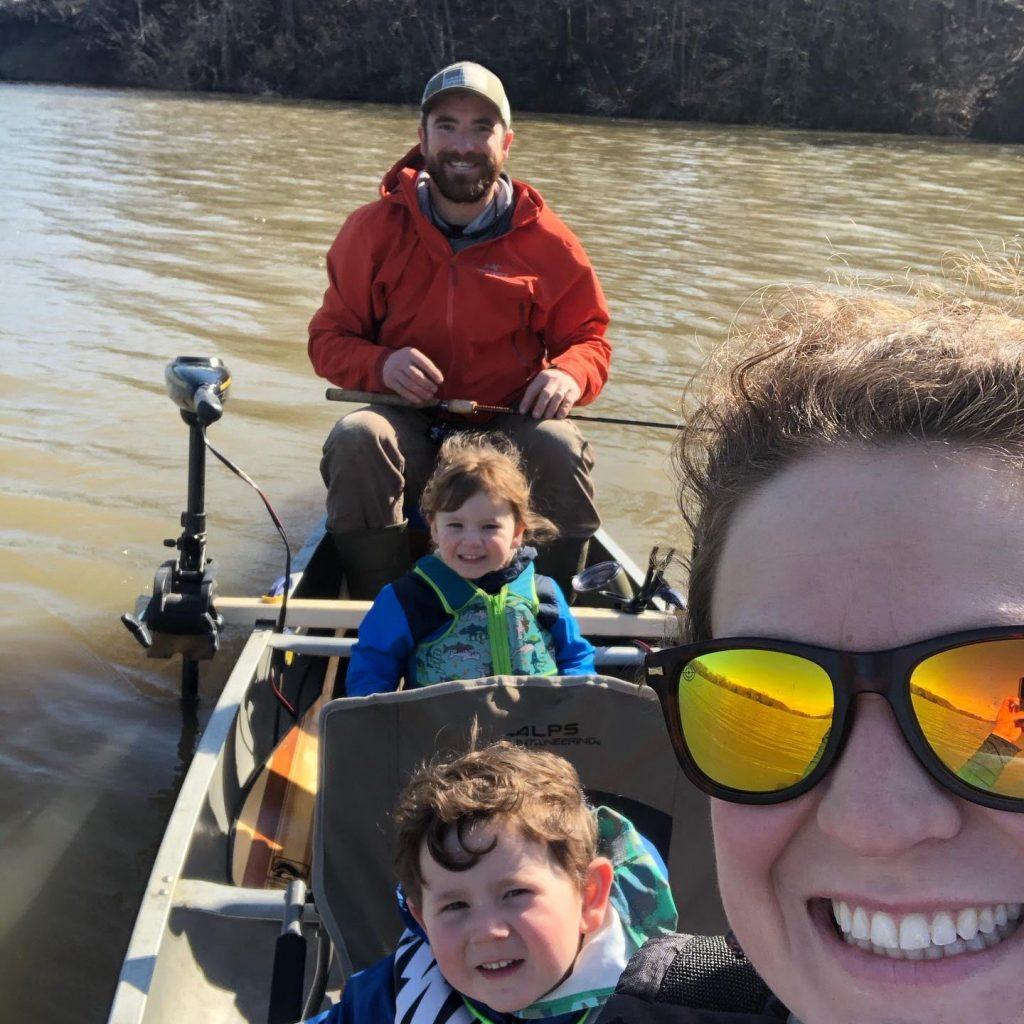 Matt Esper And His Family Fishing