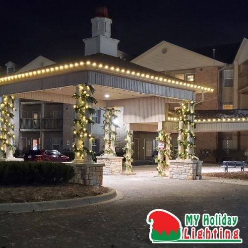 An Image of My Fertilizing Company's Holiday Light Completed for Milford's American Housing