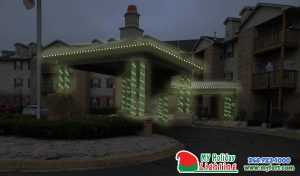 An Image Of My Fertilizing Company's Holiday Light Design For Milford's American Housing