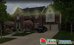 An Image Of My Fertilizing Company's Holiday Light Design For A Home In Northville MI