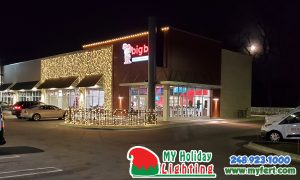 An Image Of My Fertilizing Company's Holiday Light Completed For Southfield Big Boy On Telegraph Rd