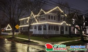 This Is Am Image Of A House In Plymouth That Had Lights Installed By My Fertilizing Company
