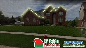An Image Of My Fertilizing Company's Holiday Light Design For A Home In Novi MI