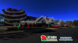 An Image Of My Fertilizing Company's Holiday Light Design For New Hudson's Biggest HOA Mill River