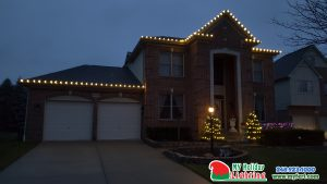 An Image Of My Fertilizing Company's Holiday Lighting Completed Job In Northville MI