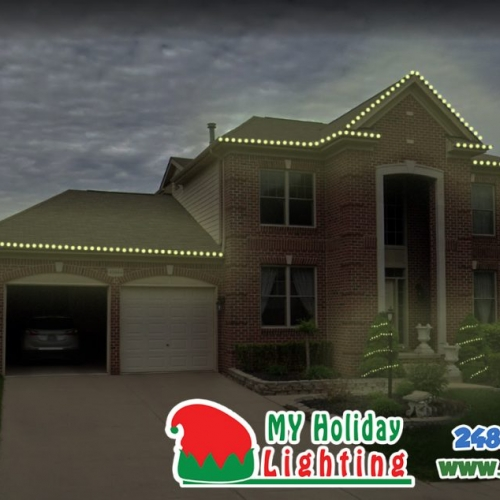 An Image of My Fertilizing Company's Holiday Light Design in Novi Michigan