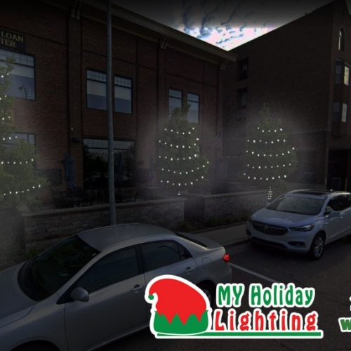 This is an image the Northville Sports that My Holiday Lighting designed for Holiday Lighting