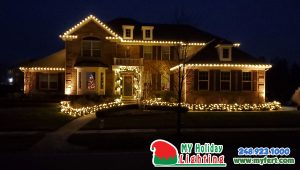This Is Am Image Of A House In Canton That Had Lights Installed By My Fertilizing Company