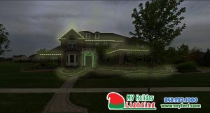 This Is An Image Of A House My Holiday Lighting Designed In Canton MI